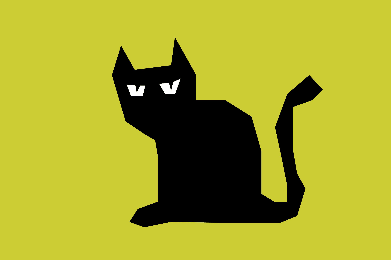 3000x2000 Black Cat Silhouette Clip Art