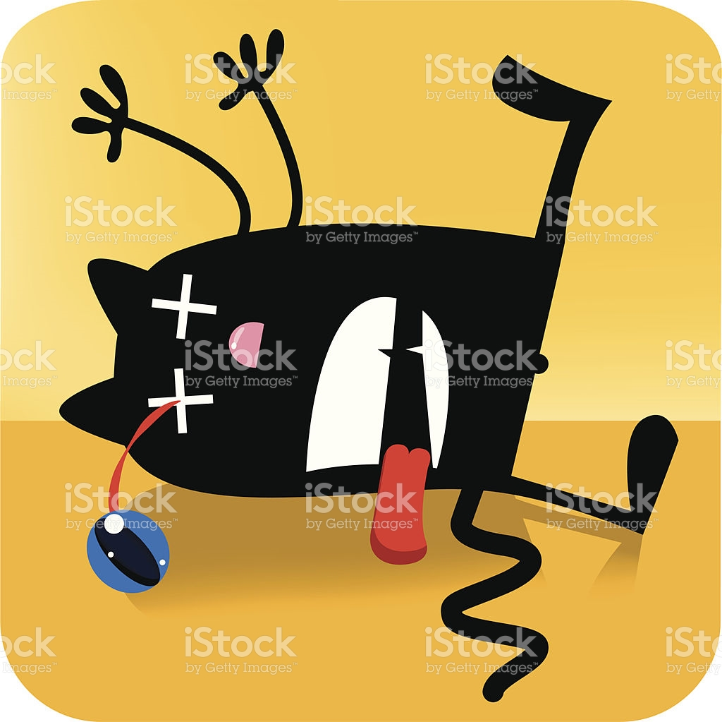 1024x1023 Black Cat Clipart Dead