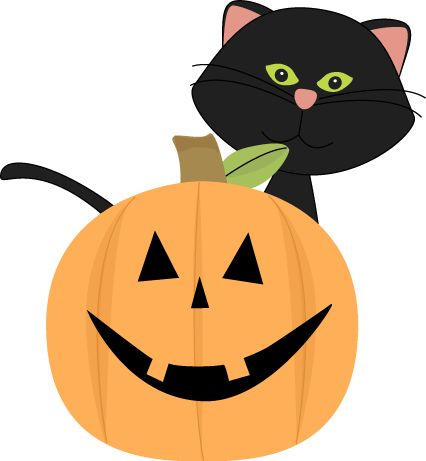 Black Cat Halloween Clipart