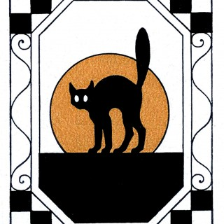 320x320 Vintage Halloween Clipart Cat Fun For Christmas
