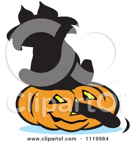 450x470 Clipart Of A Cartoon Superstition Black Cat