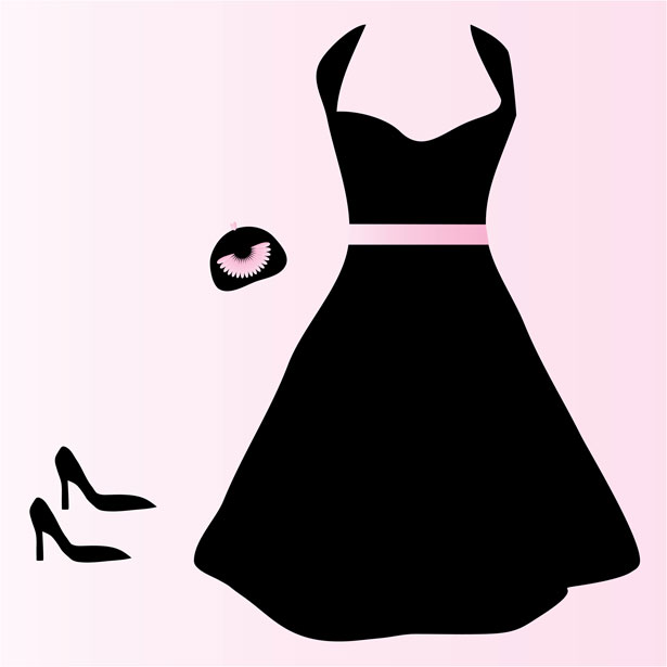615x615 Black Dress Clip Art Free Stock Photo
