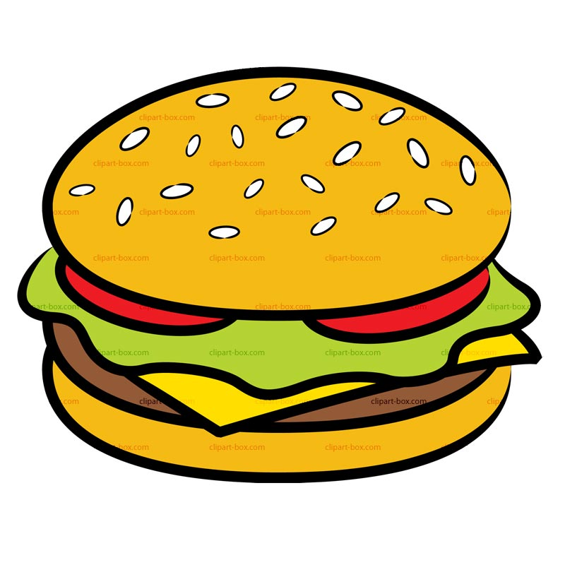 800x800 Veggie Burger Clipart Black And White