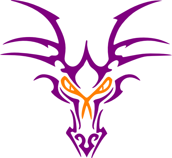 600x550 Purple Dragon Icon Clip Art