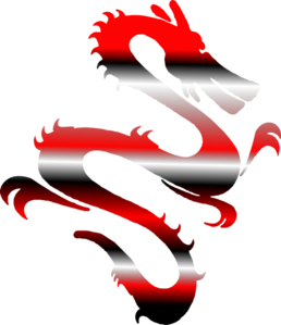 258x299 Red And Black Dragon Clip Art