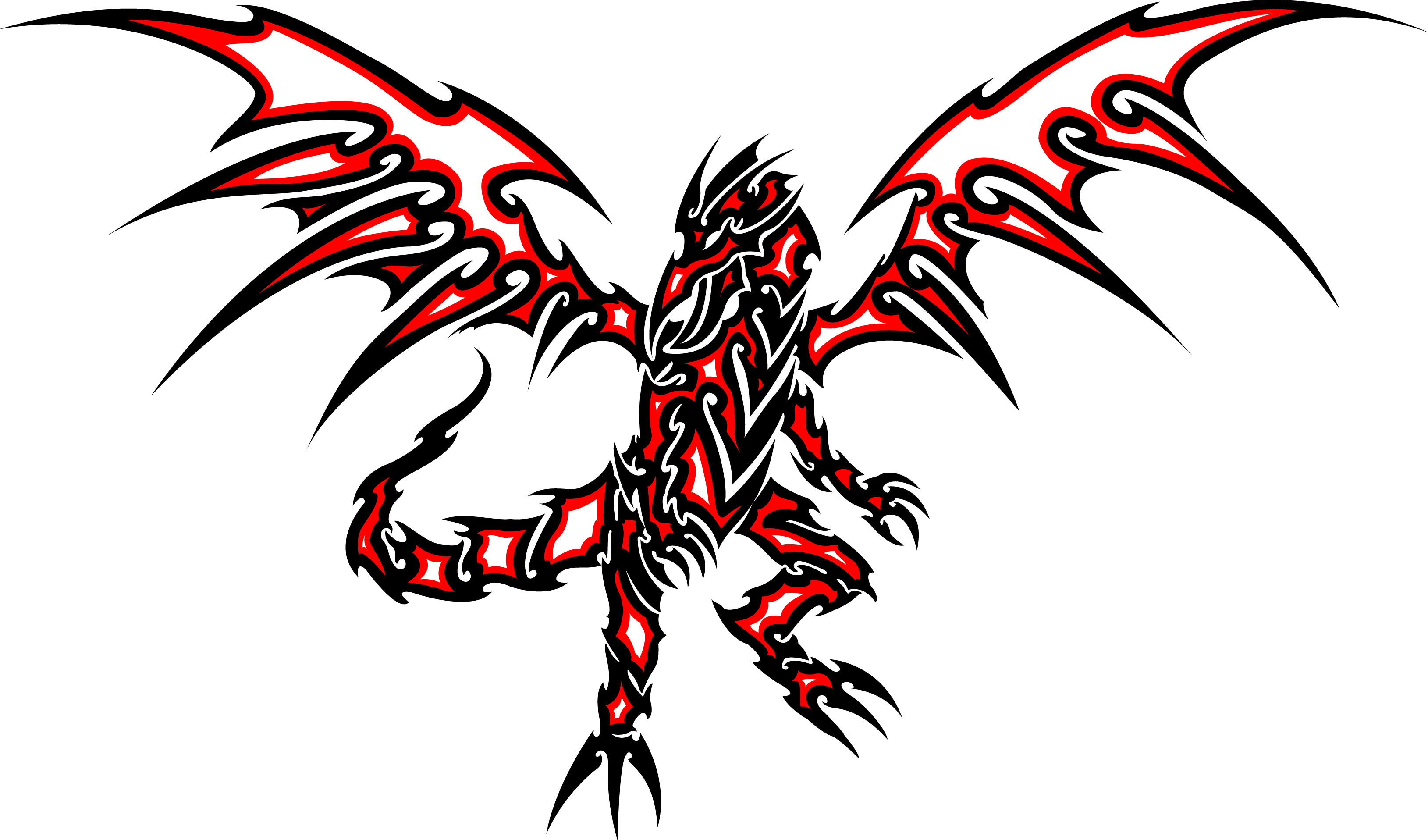 3258x1916 Red And Black Dragon Tattoo Red Eyes Black Dragon Clipart