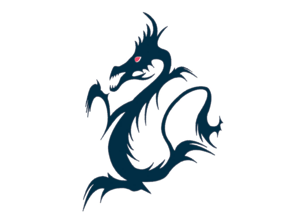 1024x768 Black Dragon Clipart