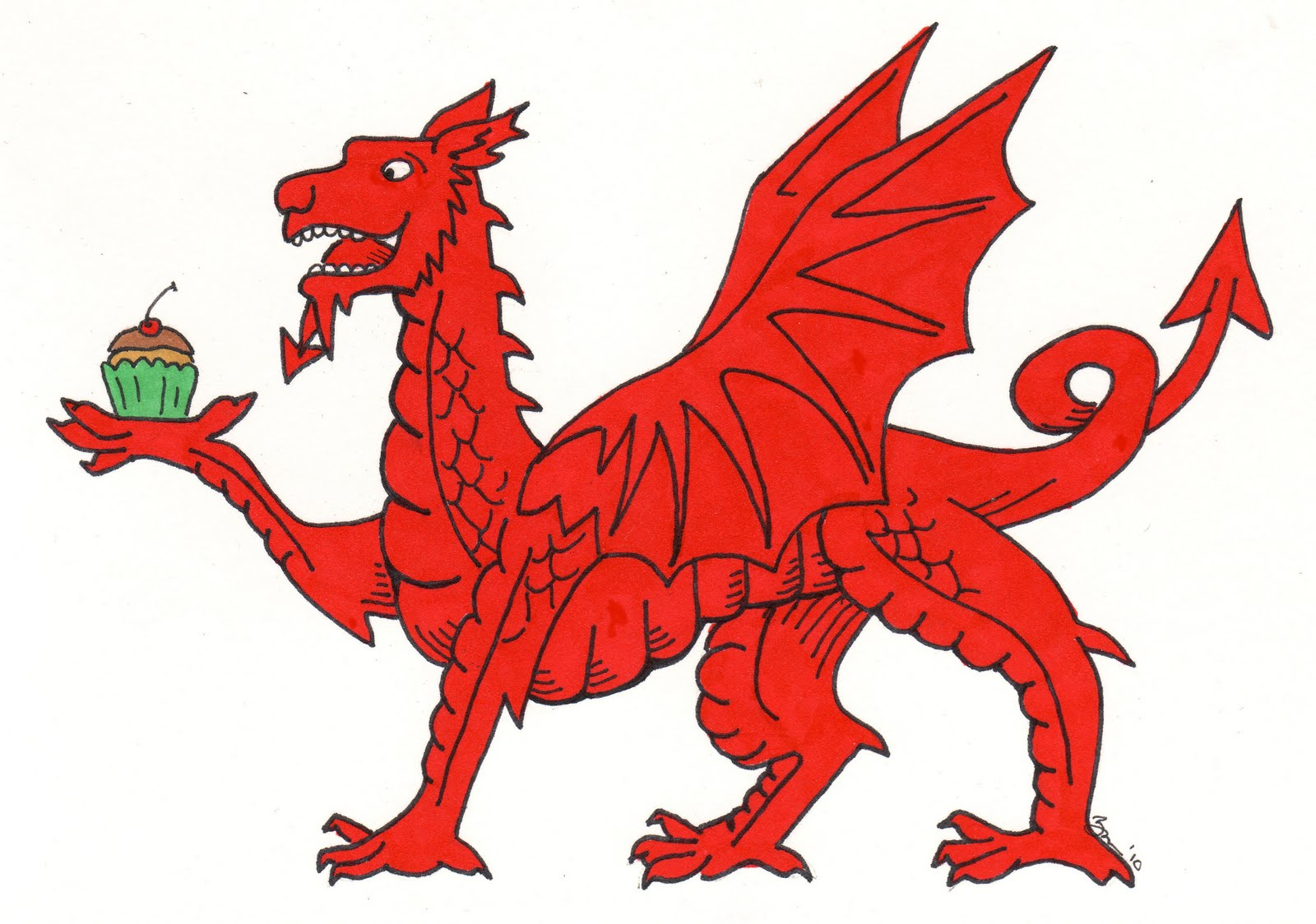 1600x1124 Welsh Dragon Clipart