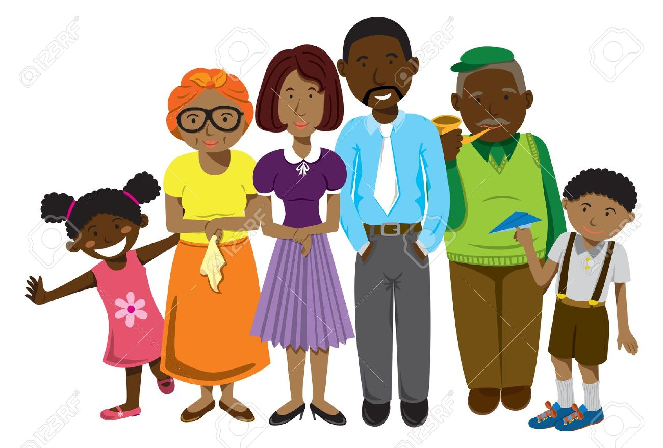 1300x879 Collection Of Black Family Clipart Free High Quality, Free