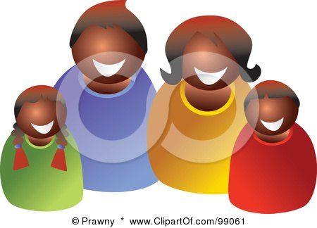 450x324 Royalty Free (Rf) Clipart Illustration Of A Happy Black Family