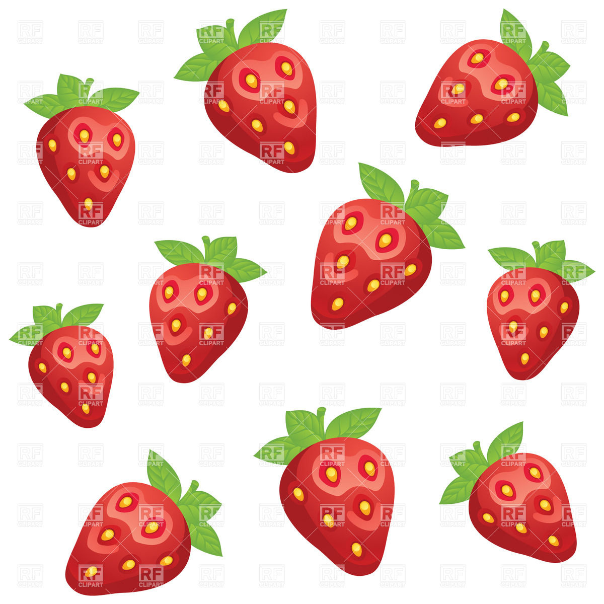 1200x1200 Simplistic Pattern With Strawberry Vector Image Vector Artwork