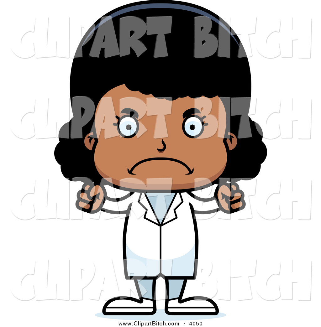 1024x1044 Clip Vector Cartoon Art Of An Angry Black Girl Doctor By Cory