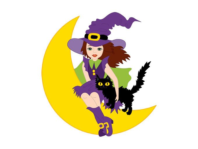 680x511 Halloween Witch Clipart
