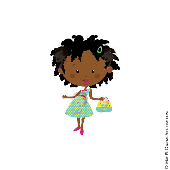 570x570 African American Girl Clipart