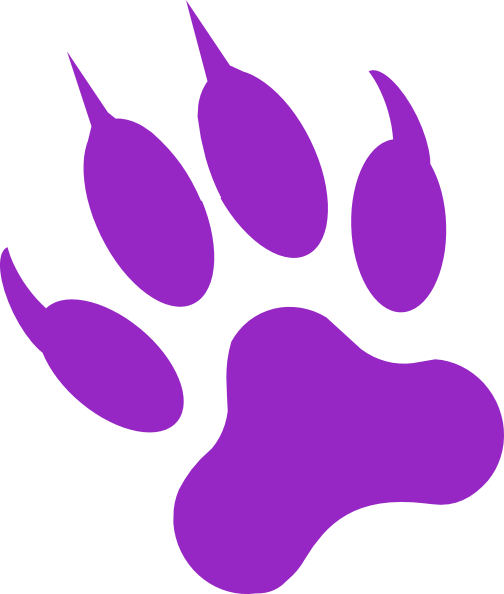 504x594 Black Panther Paw Print Tattoo Clipart