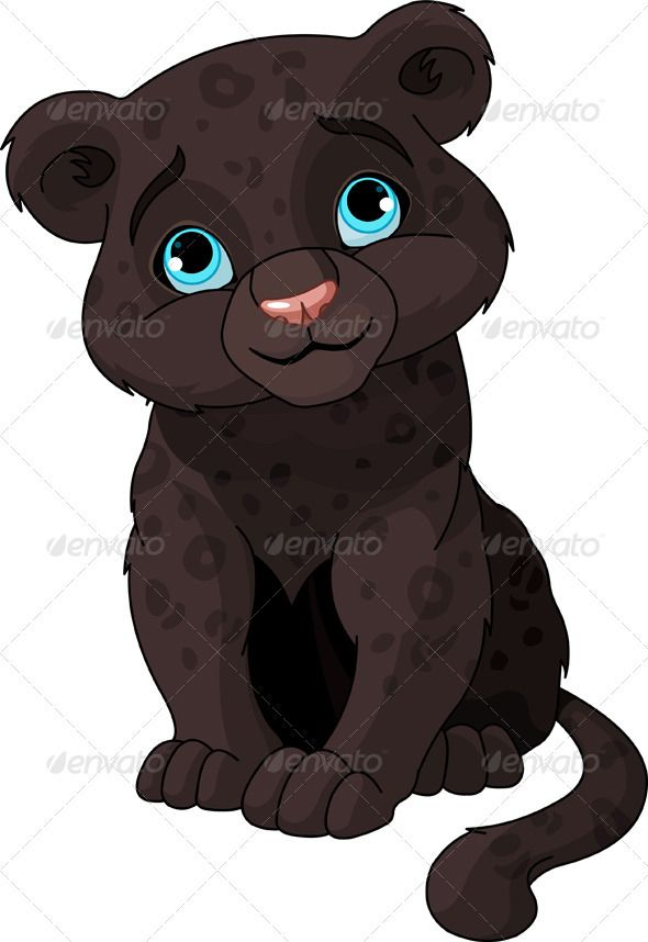 590x858 Black Panther Cub Panther Cub, Clip Art And Rock Painting