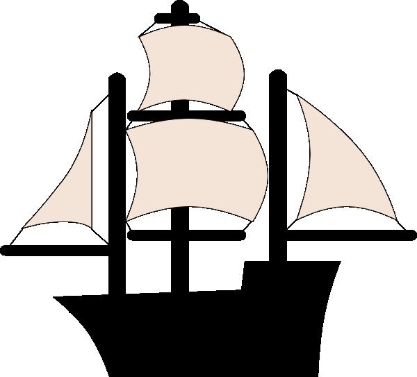 600x543 Black Pirate Ship Clip Art
