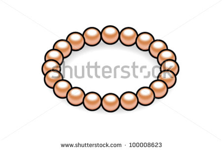 450x305 Picture Of A Bracelet Of Pearls In A Vector Clip Art Illustration