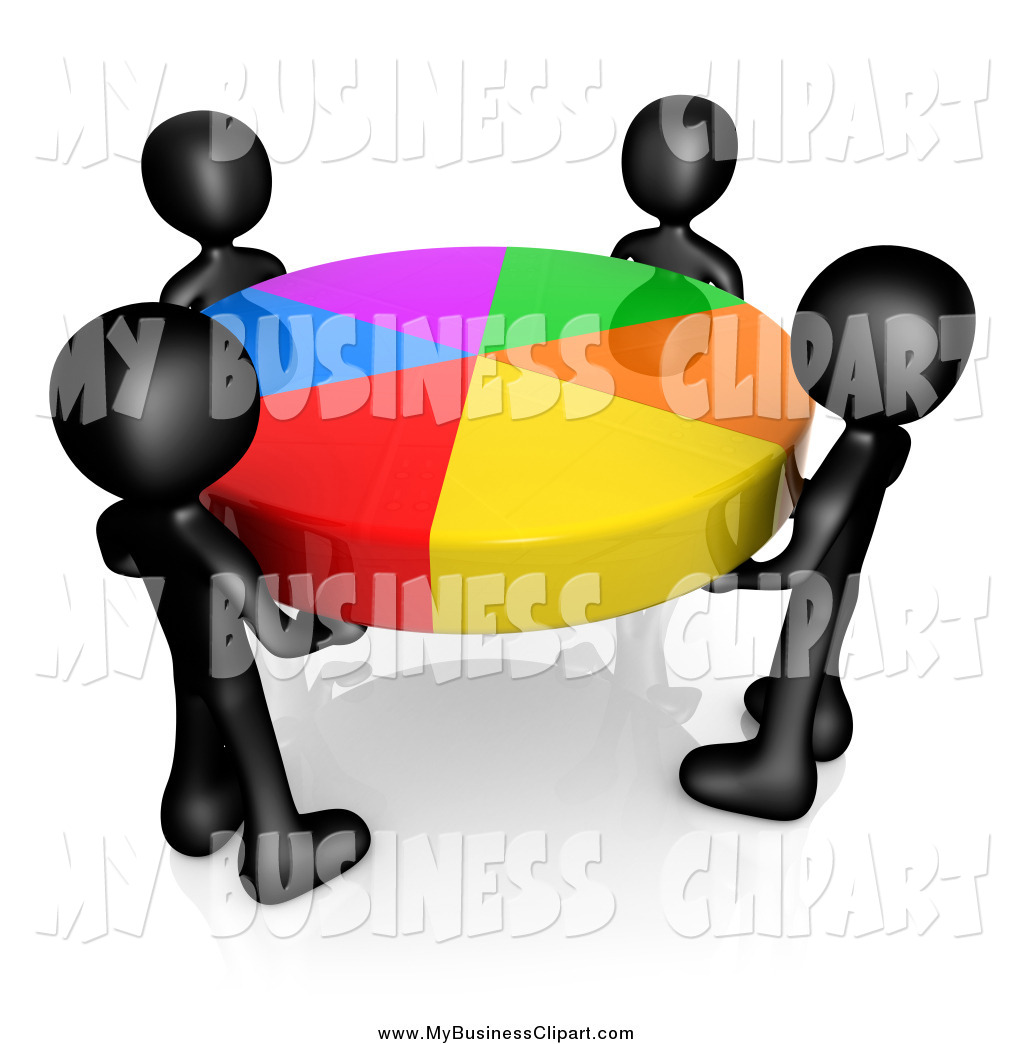 1024x1044 Clip Art Of A Group Of 3d Black People Holding A Colorful Pie