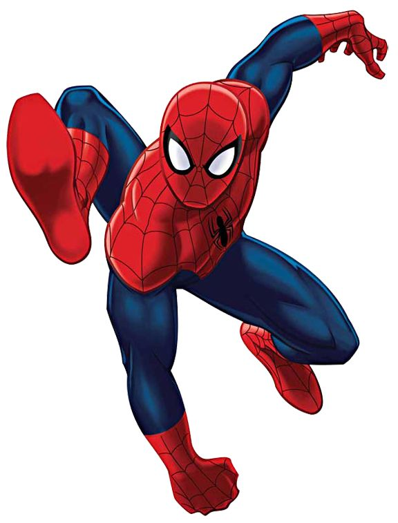 Black Spiderman Clipart