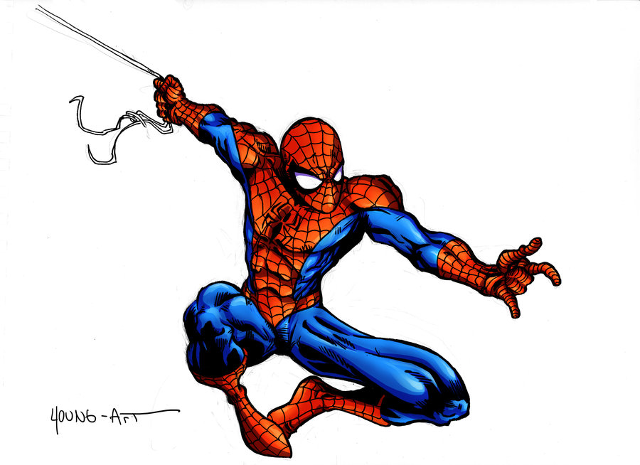 900x654 Spider Man New Colouring Style By Parisalleyne