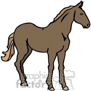 Black Stallion Clipart