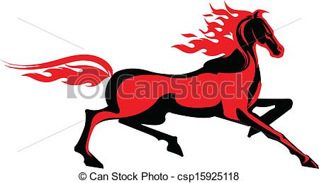450x258 Fiery Horse Vector Clipart Royalty Free. 92 Fiery Horse Clip Art