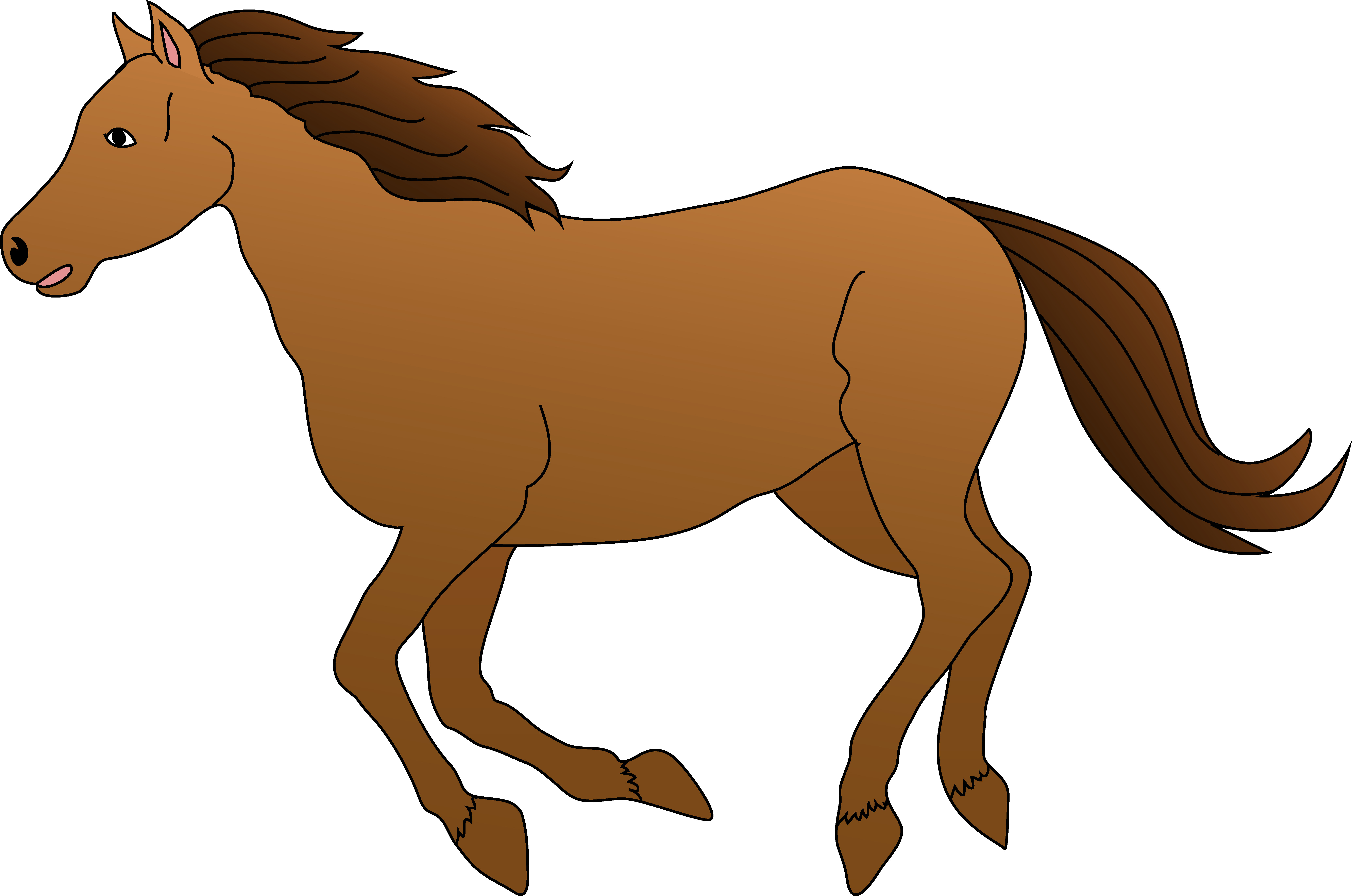 6680x4427 Horse Clipart Free