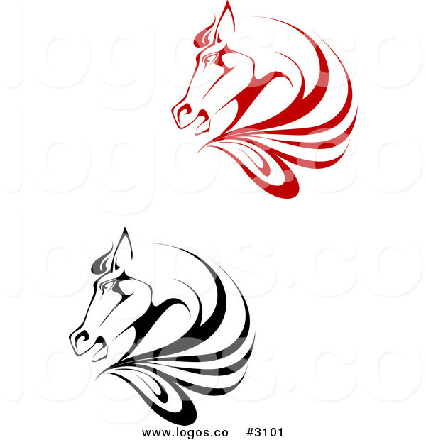 600x620 Royalty Free Vector Red And Black Horse Logos By Vector Tradition