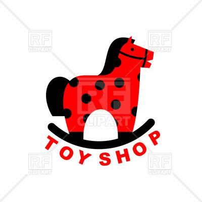 400x400 Toy Shop Icon Rocking Horse Royalty Free Vector Clip Art Image