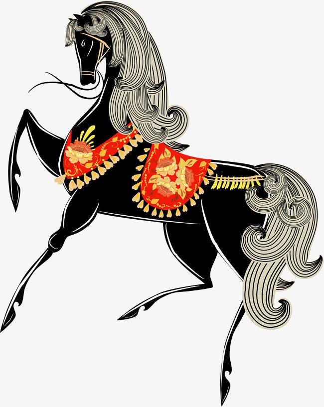 650x817 Cartoon Black Horse, Cartoon, Black, Horse Png Image And Clipart