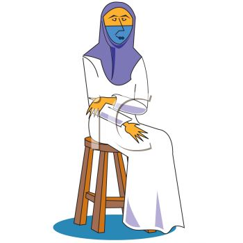 350x350 Royalty Free Clip Art Image Islamic Woman Wearing A Veil