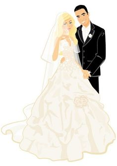 236x334 Wedding Clip Art Bride And Groom Have A Look