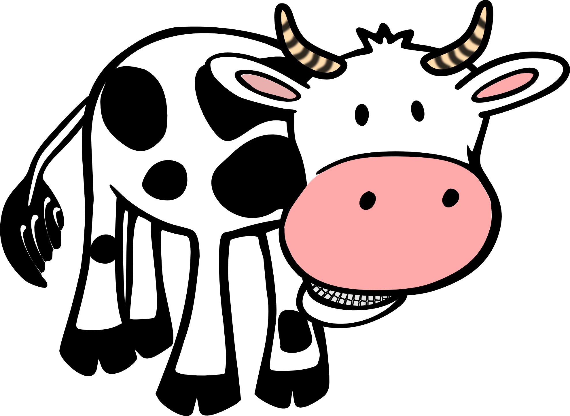 1979x1444 Cow Clipart Black And White Clipart Panda