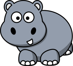 298x267 Amazing Hippo Clip Art Cartoon Clipart Party Guy Baby Black