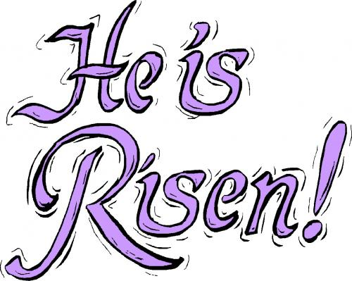 500x399 He Is Risen Clip Art Black And White Happy Easter 2018