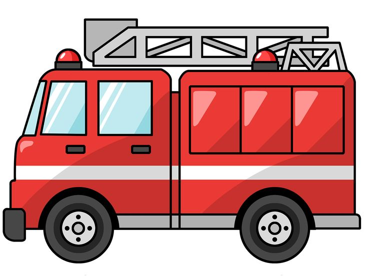 736x552 Free Black And White Fire Truck Clip Art