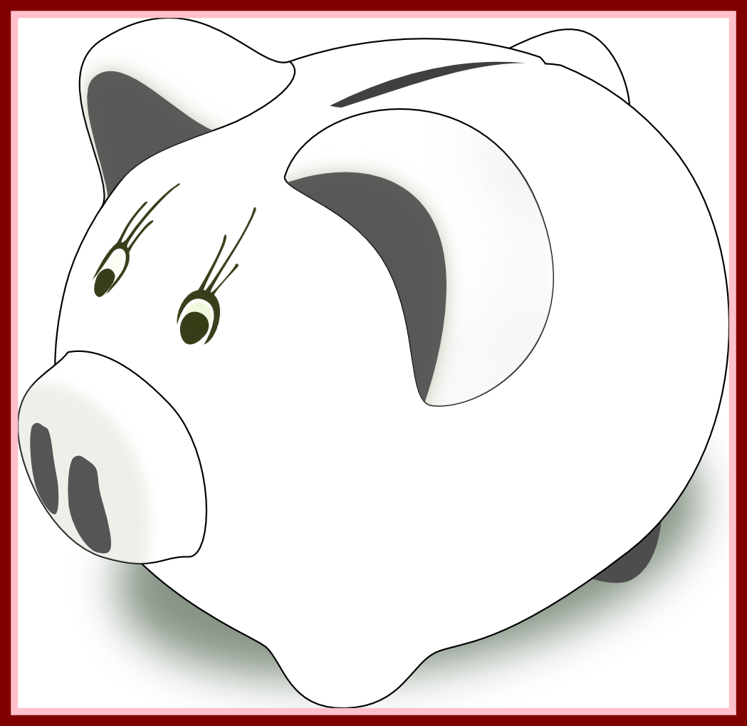 1049x1019 Astonishing Piggy Bank Clip Art Black And White Clipart