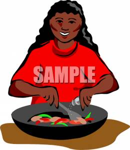 260x300 Black Woman Cooking Clipart