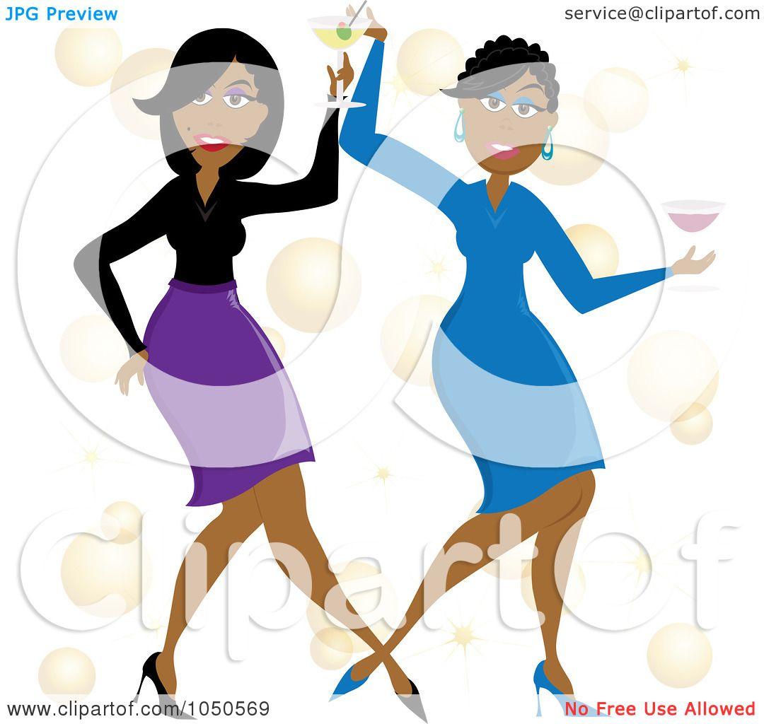1080x1024 Royalty Free (Rf) Clip Art Illustration Of Funky Black Women