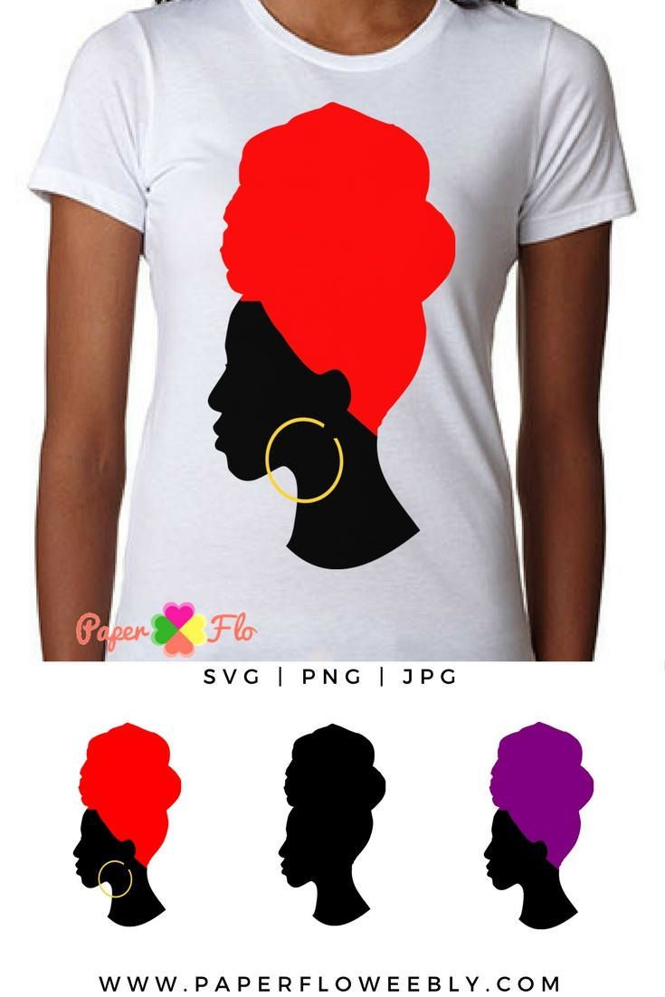 735x1102 Headwrap Svg Silhouette Clip Art Black Woman Head Wrap Jpg File