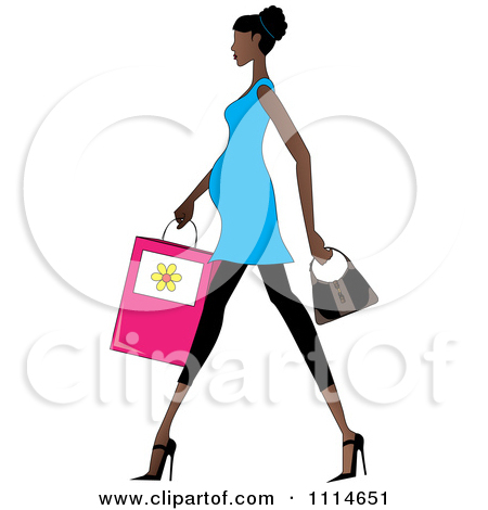 450x470 Walking Woman Clipart
