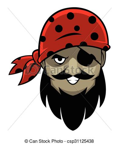 391x470 One Eye Pirate Head Vectors