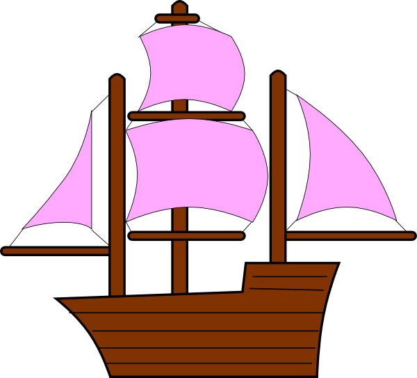 600x543 Pirate Clipart Sailboat