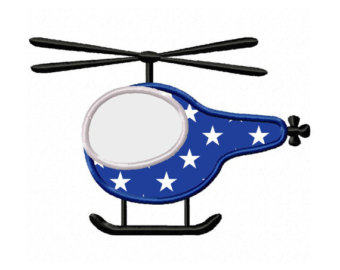 340x270 Helicopter Applique Etsy