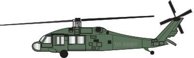 400x120 Black Hawk Helicopter Clip Art