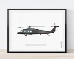 236x188 Blackhawk Helicopter Wall Art