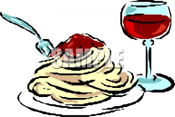 350x234 Spaghetti Dinner Clipart Collection