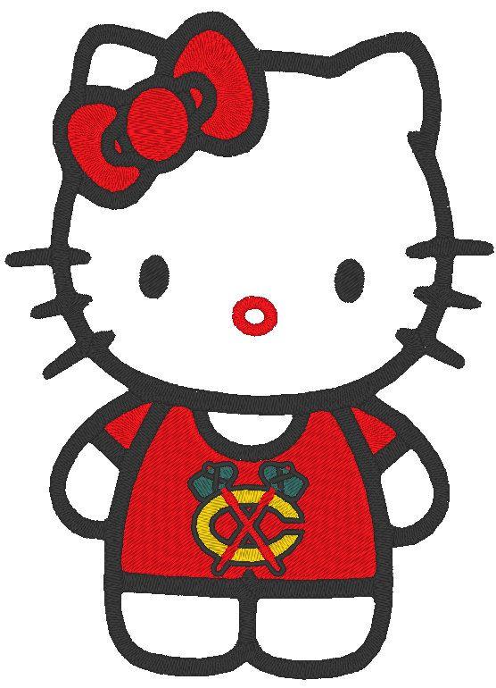 556x770 Blackhawks Hello Kitty Machine Embroidery Design By Embellishstar