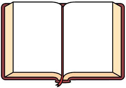 432x304 Blank Open Book Clip Art